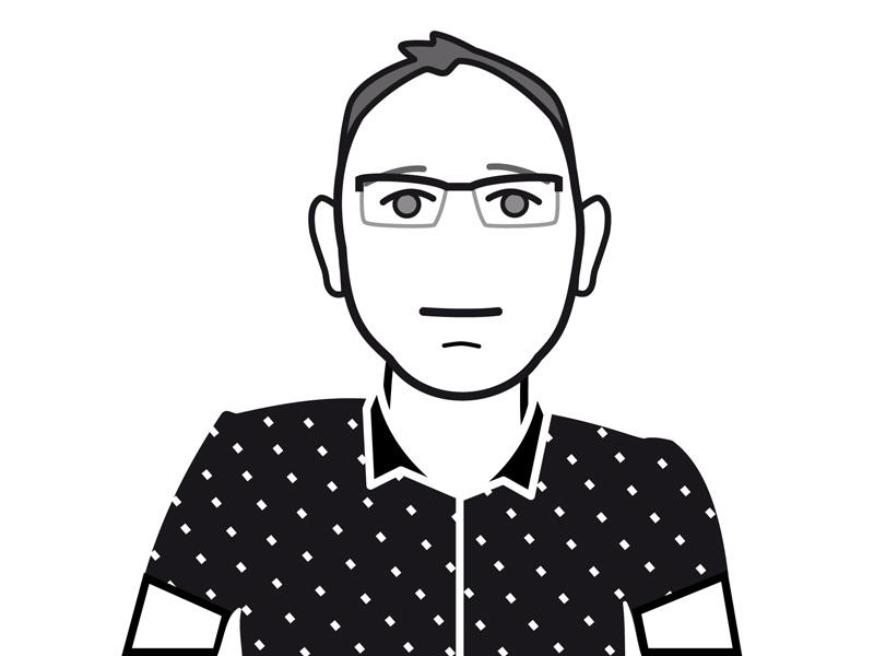 Schwarz-Weiß-Zeichnung von Dr. Stefan Voigt