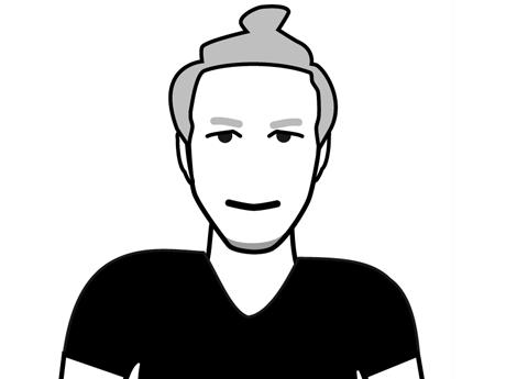 Schwarz-Weiß-Zeichnung von Felix Epp