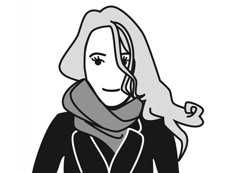 Schwarz-Weiß-Zeichnung von Jannicke Gimbel