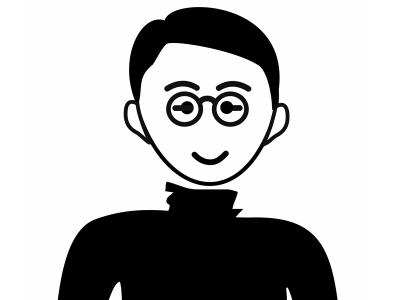 Schwarz-Weiß-Zeichnung von Prof. Tsunemitsu Tanaka
