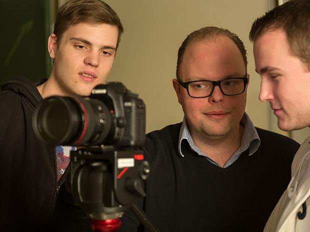 Kamera-Training mit Dozenten