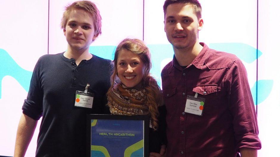 Daniel Stehlik (3. Semester), Laura Schillke(1. Semester) und Max Sommer (3. Semester)
