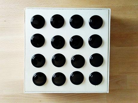 Jeder Knopf kann mit einem anderen Sound belegt werden.
