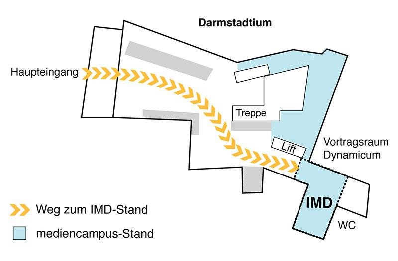 Wegbeschreibung zum IMD-Stand auf der hobti: Stand A7 und dann hinten rechts