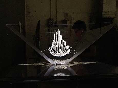 Das Hologramm in der Pyramide