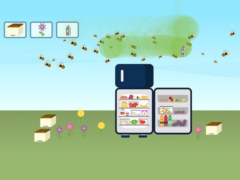 Bienen haben einen Einfluss auf den Inhalt Deines Kühlschranks.