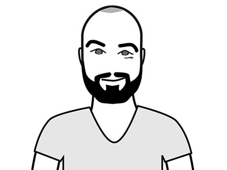 Schwarz-Weiß-Zeichnung von Filip Grgic