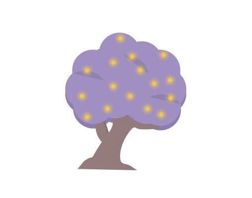 Illustration eines Baumes im Eden Park