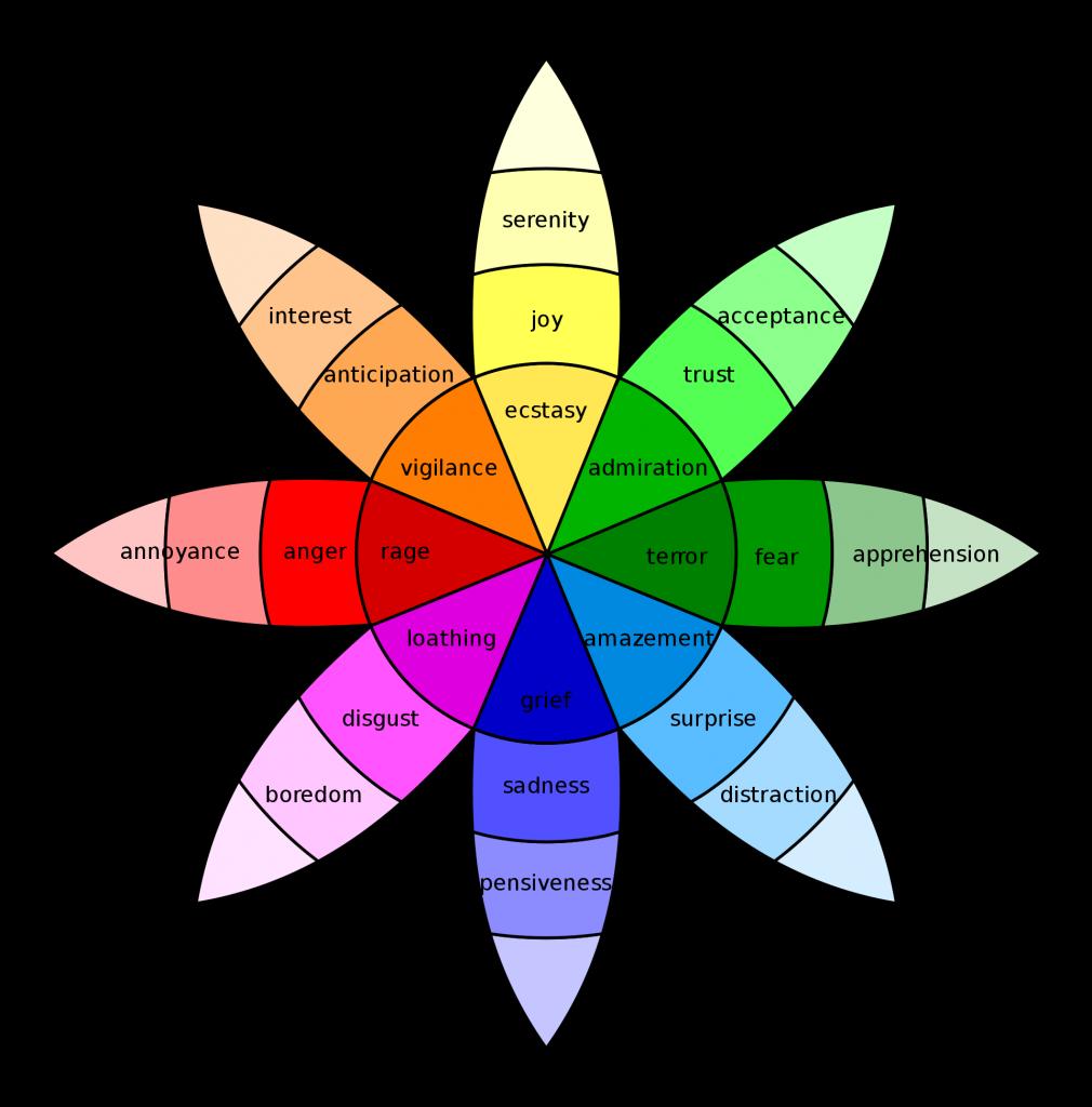 Beispiel Bild des plutchik wheel of emotion