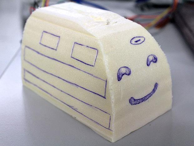 Ein Schaum-Modell von Bulky.