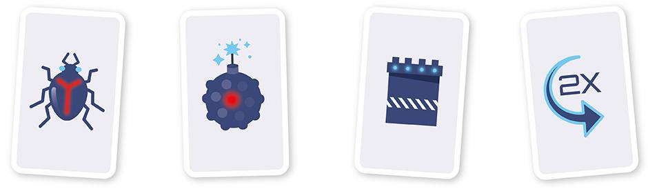 Spielkarten mit bedruckten Motiven