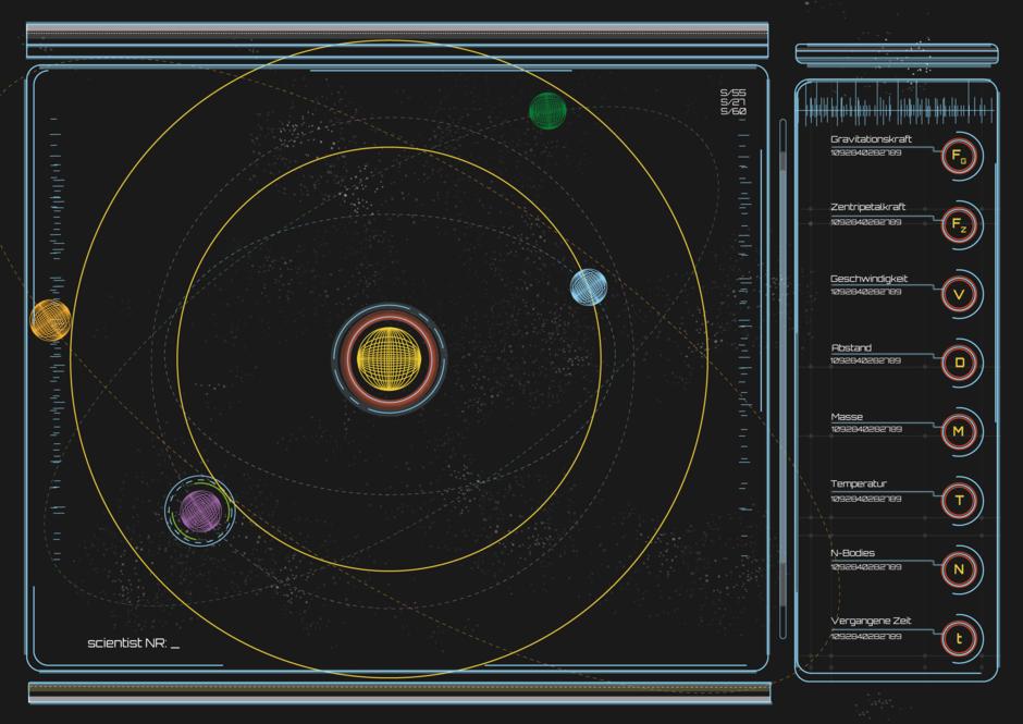 Orbit Screen, Ein leeres Sonnensystem, dass darauf wartet, mit neuen Planeten gefüllt zu werden.