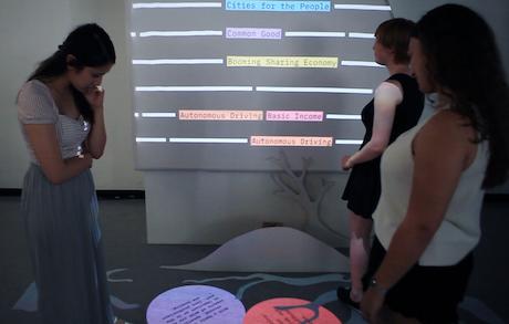 Nutzer beim Testen des Prototypen
