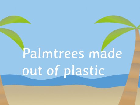 Palmtrees made out of Plastic