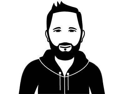 Schwarz-Weiß-Zeichnung von Garrit Schaap