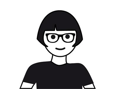 Schwarz-Weiß-Zeichnung von Prof. Andrea Krajewski