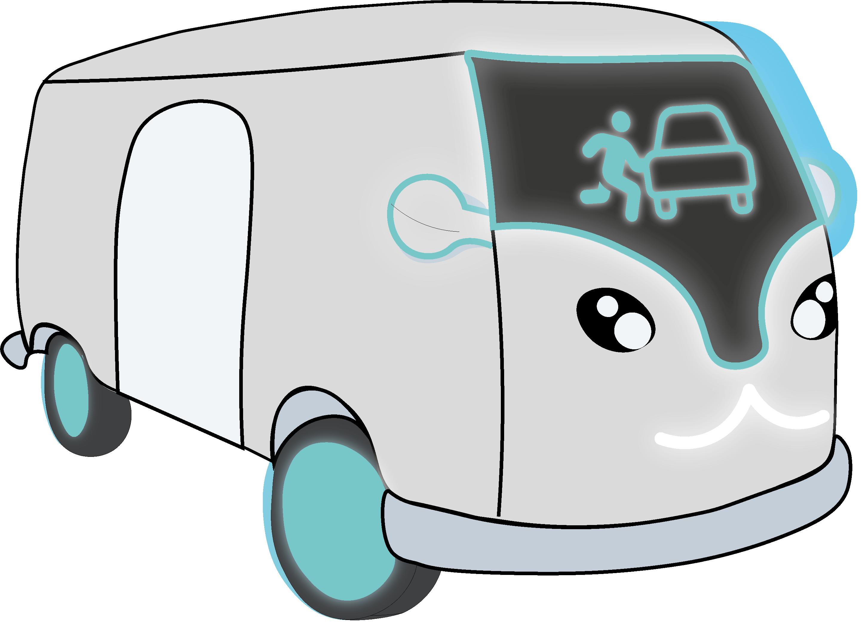 Beispielhafte Skizze des Autos