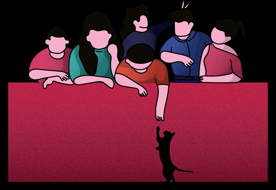 Eine Gruppe Menschen, die zusammen Spaß haben