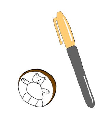 Skizze vom Wunschchip in Form einer Münze