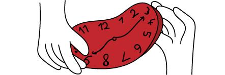 zwei Hände ziehen an einer Uhr