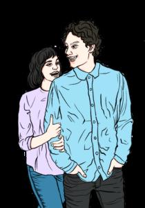 Grafikzeichnung von Frank und Annegret